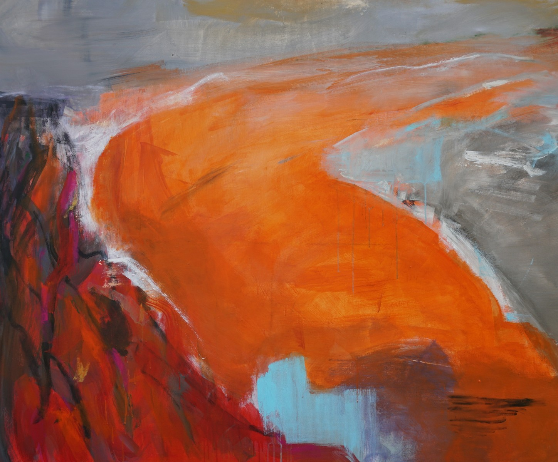 Alles-in-fluss, Acryl/Öl, 100x120cm, 2020