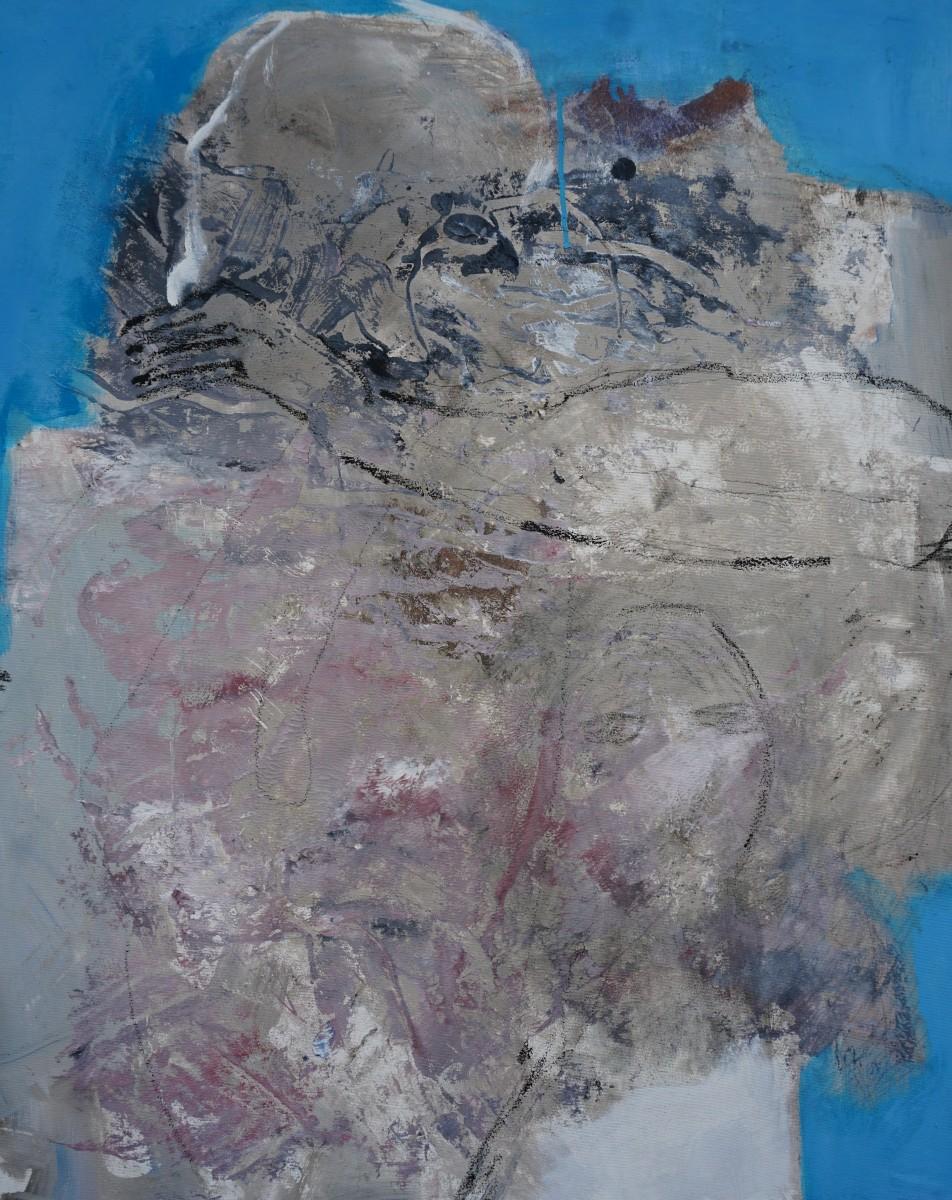 Berg-der-Empfindungen, Acryl, 100x80cm, 2020