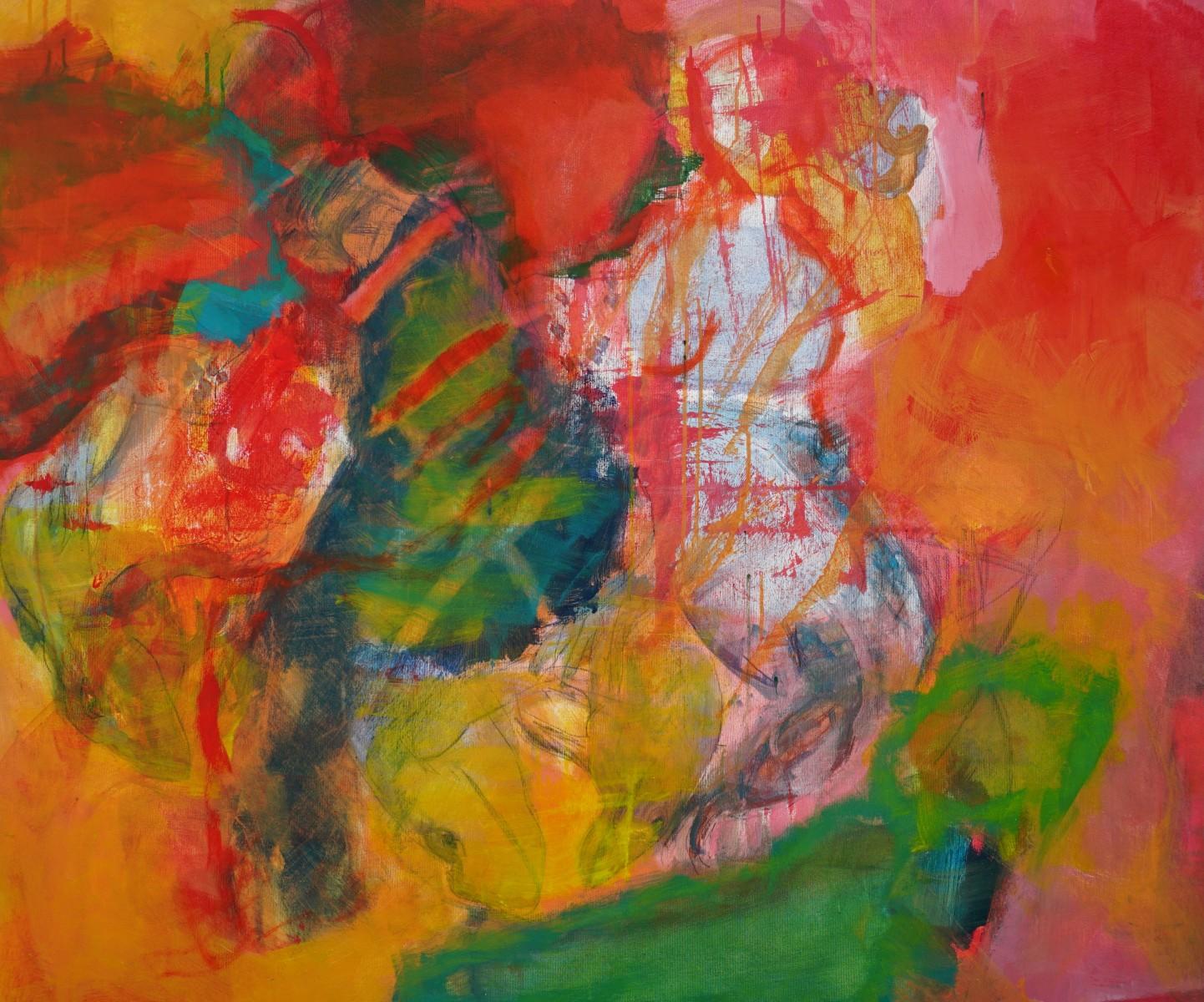Das-Theaterstück, Acryl, 100x80cm, 2020