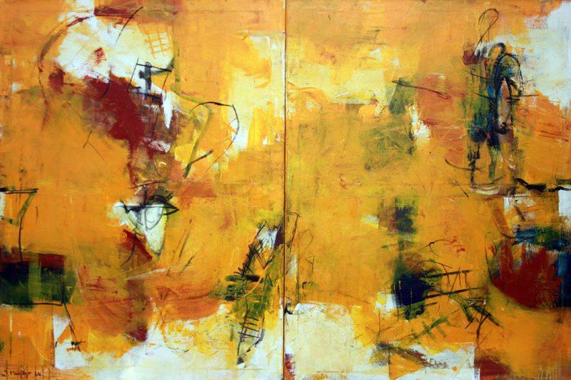Die Inszenierung, 2x 90x120cm, Acryl 2005