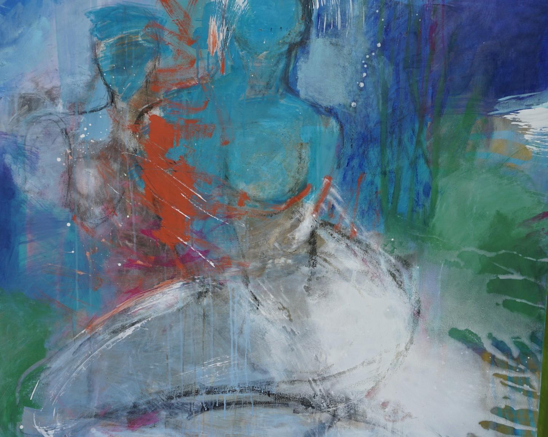 Körper-im-Gespräch, Pigmente, 100x120cm, 2020