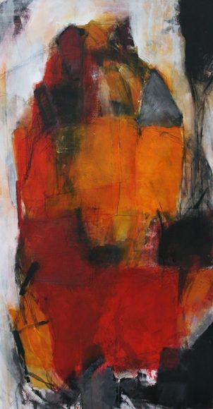 Umarmung, 70x130cm, Acryl/Pigmente 2008